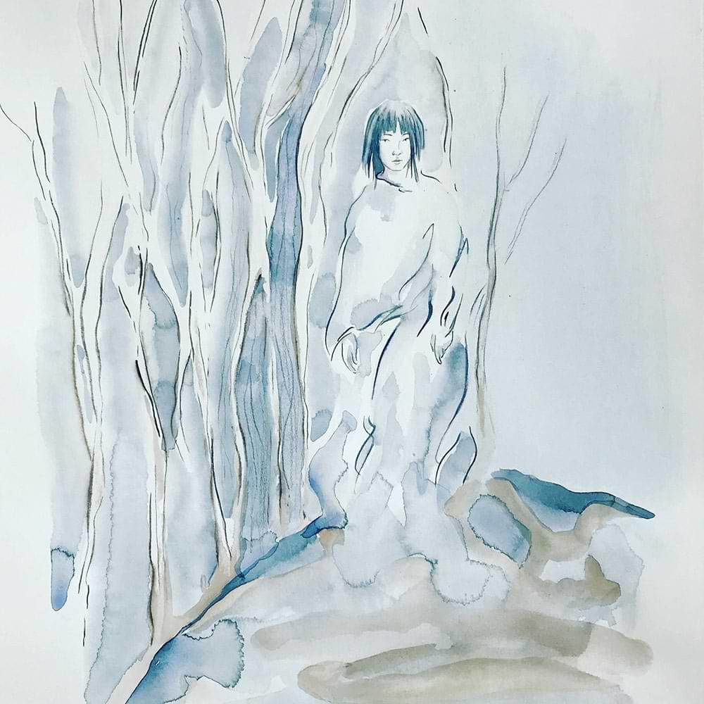 christiane haag japan japaneseart japaneseculture harukimurakami killingcommendatore art drawing watercolour