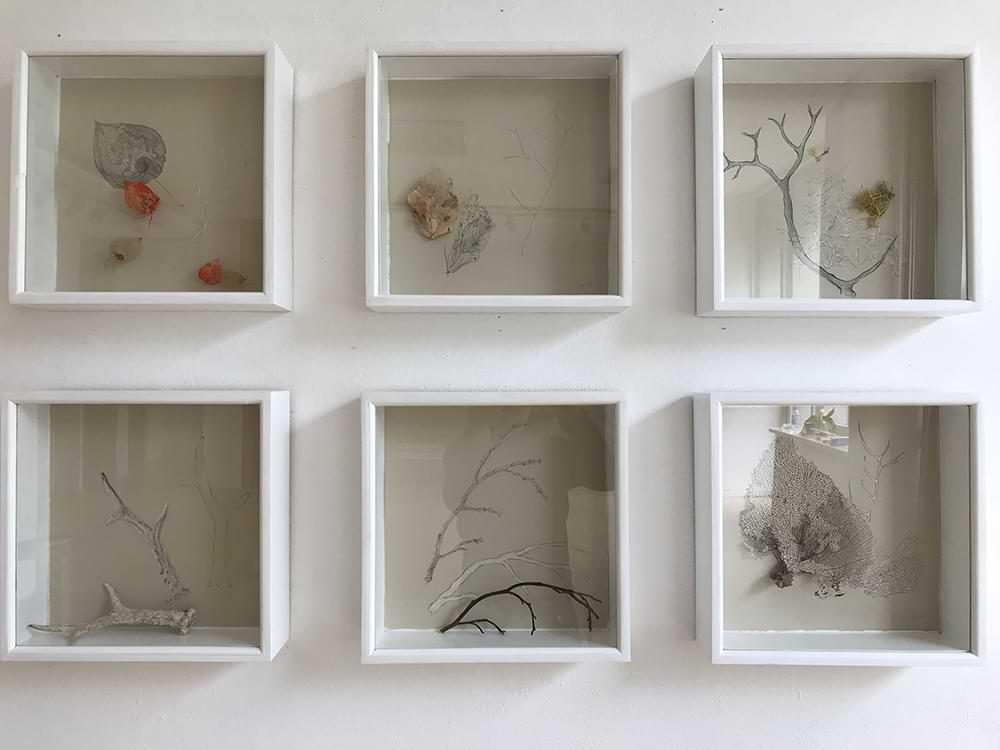christiane haag installation object plaster exhibition stables gallery twickenham gedok galerie stuttgart artist urbannature urbandeer antler geweih
