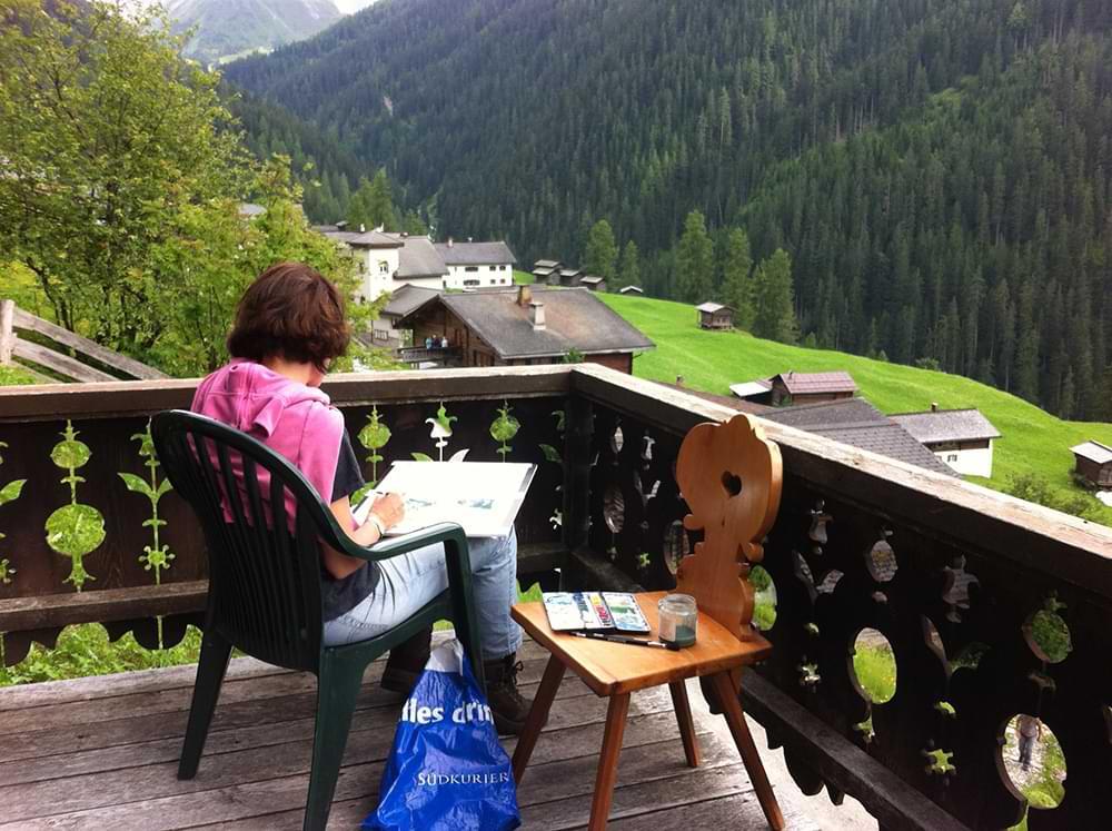 Kunstkurs Monstein, Schweiz