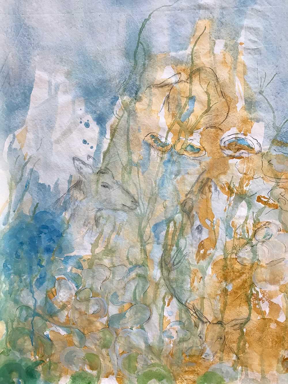 christianehaag kuenstlerin malerei painting urbandeer urbannature-art acrylicpainting