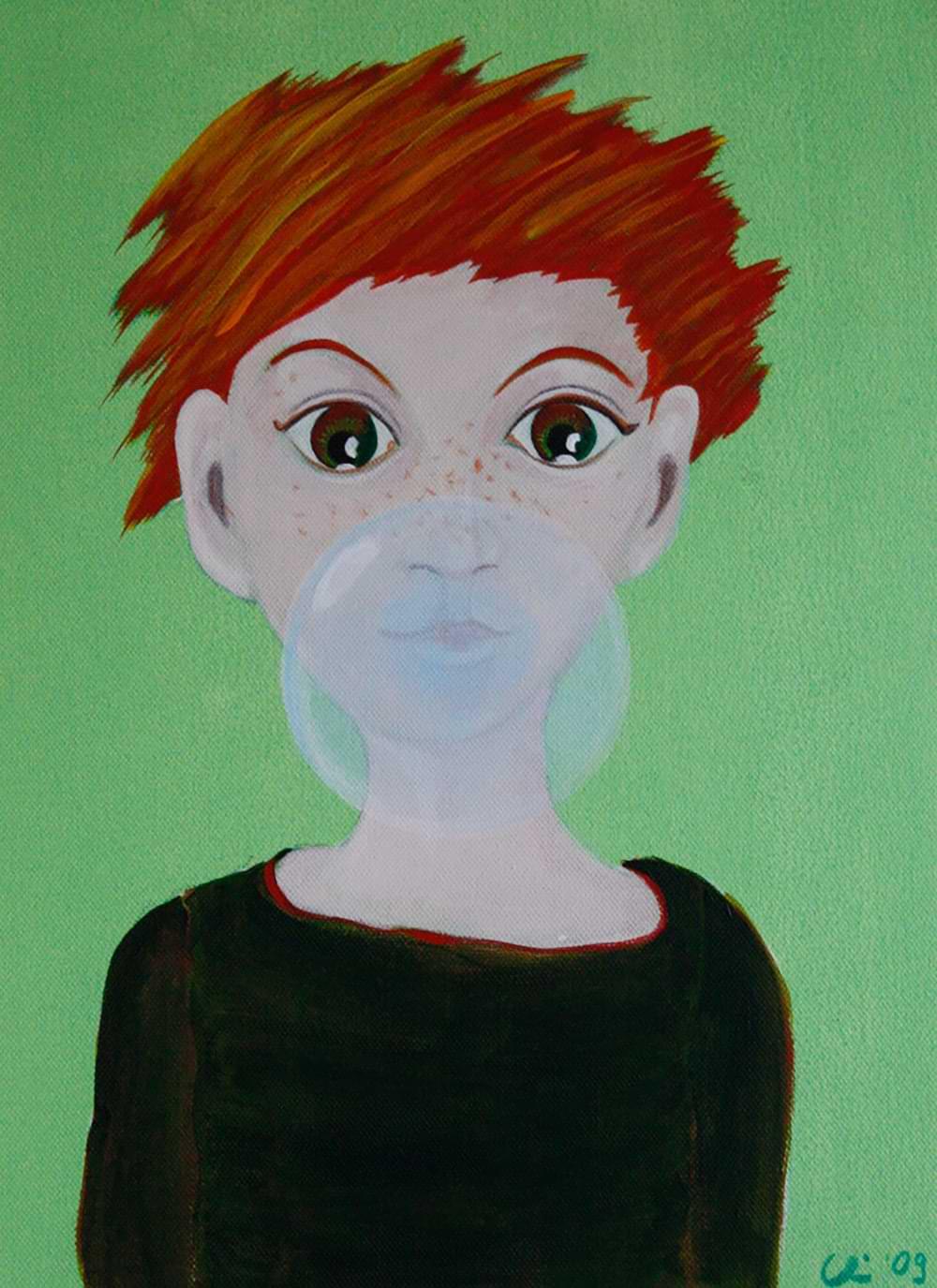 christianehaag bubbles malerei painting manga acrylicpainting