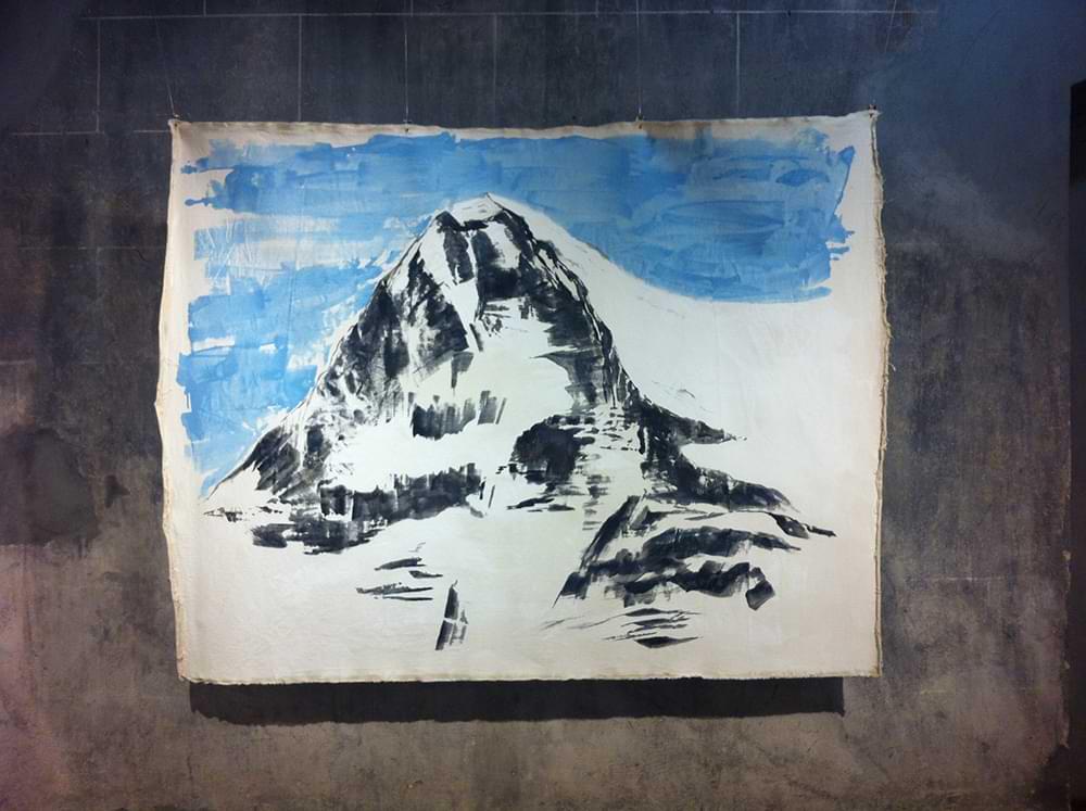 christiane haag kuenstlerin artist acrylicpainting eiger nordwand direktroute erstbegehung peter haag john harlin
