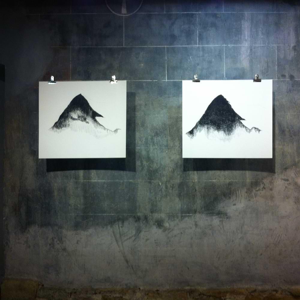 christiane haag kuenstlerin artist kohlezeichnung charcoil eigernordwand direktroute erstbegehung peterhaag johnharlin climbing drawing
