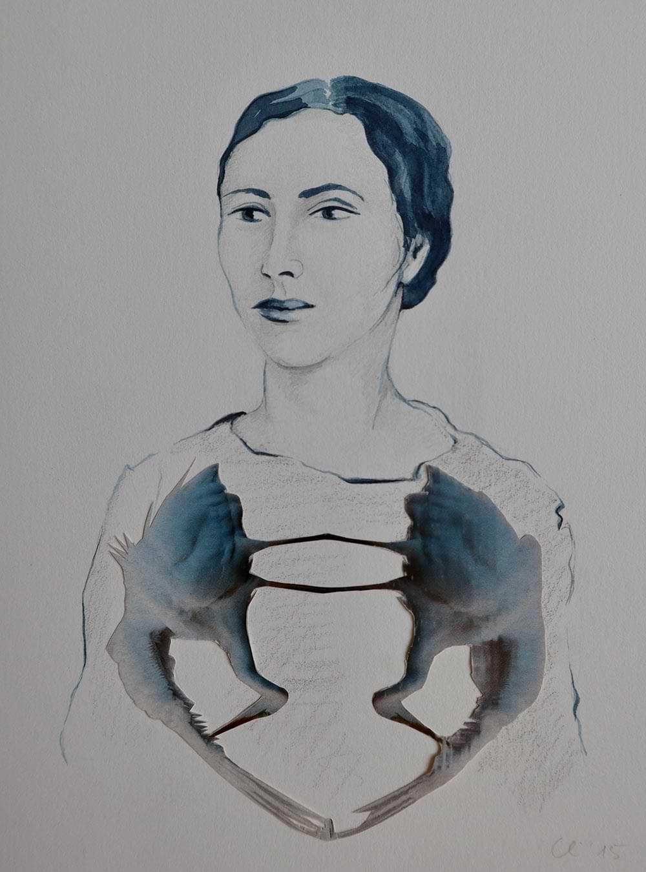 Christianehaag-kuenstlerin-artist-zeichnung-drawing-collage-gefluechtetefrauen-femalerefugees-voegel-birds
