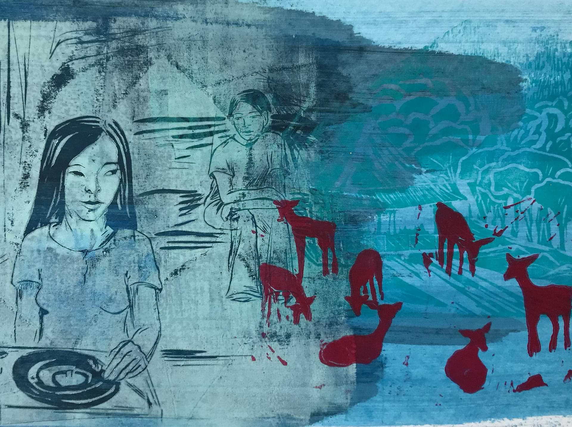 christianehaag-theboywholefthome-kunst-art-linoldruck-linocut-japan-harukimurakami
